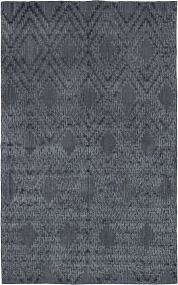 Carved  Contemporary Grey Area rug 5x8 Indian Hand-knotted 272009