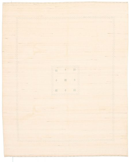 Gabbeh  Tribal Ivory Area rug 6x9 Indian Hand-knotted 331230