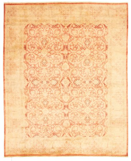 Bordered  Traditional Brown Area rug 6x9 Pakistani Hand-knotted 331280