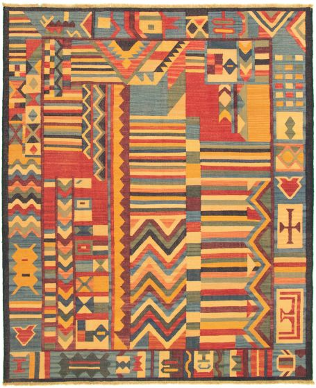 Casual  Flat-weaves & Kilims Multi Area rug 6x9 Turkish Flat-weave 336028