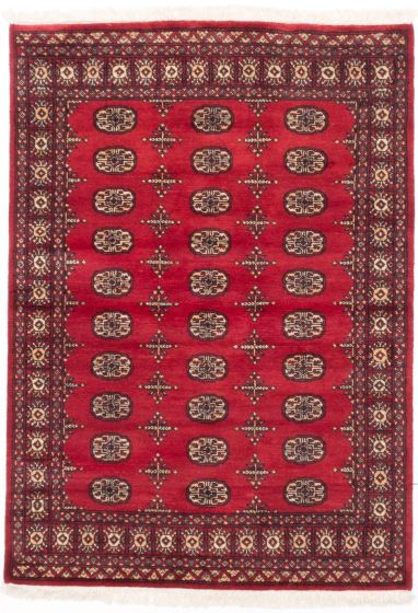 Traditional Red Area rug 3x5 Pakistani Hand-knotted 205027