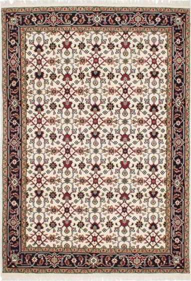 Traditional Blue Area rug 5x8 Indian Hand-knotted 208505