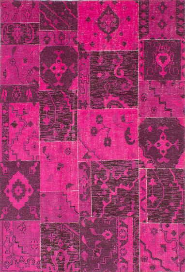 Bohemian  Transitional Pink Area rug 6x9 Indian Hand-knotted 220088