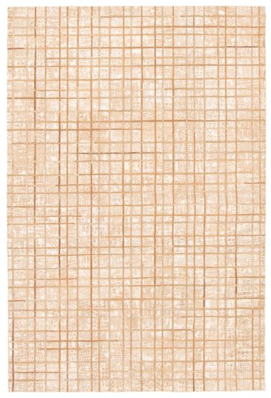 Accent  Transitional Ivory Area rug 3x5 Argentina Handmade 340298