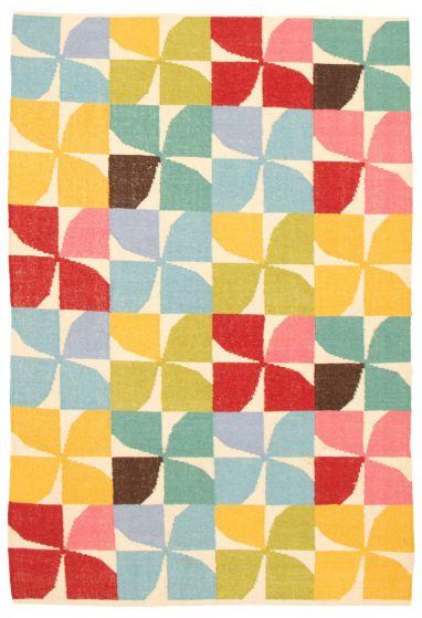 Flat-weaves & Kilims  Transitional Multi Area rug 5x8 Turkish Flat-weave 344545