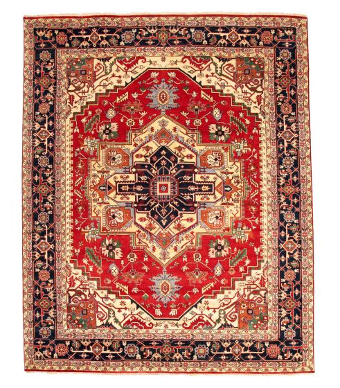 Bordered  Traditional Red Area rug 12x15 Indian Hand-knotted 345136