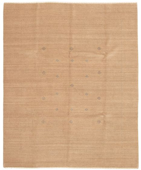Gabbeh  Tribal Brown Area rug 6x9 Indian Hand-knotted 331204