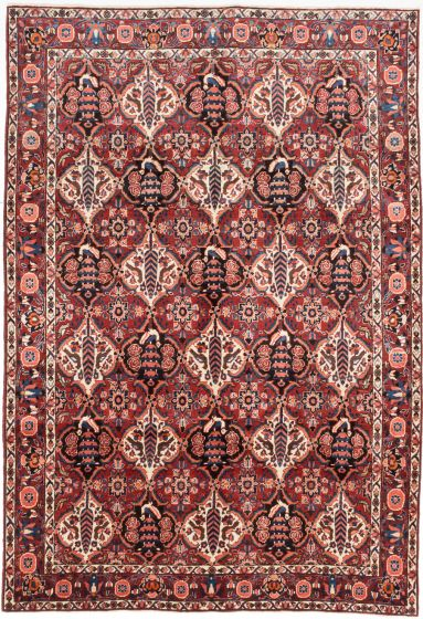 Traditional Red Area rug 6x9 Persian Hand-knotted 203441