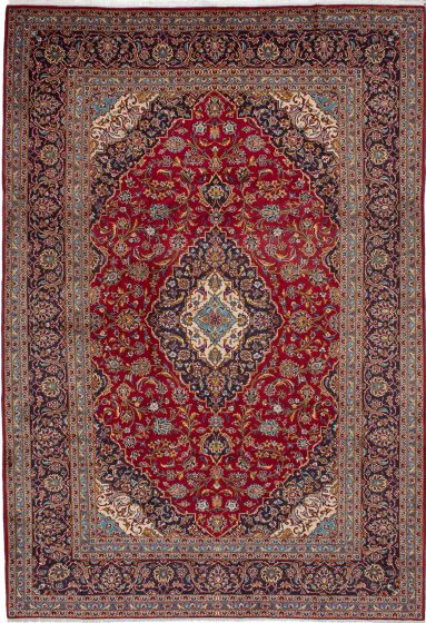 Traditional Red Area rug Unique Persian Hand-knotted 210648
