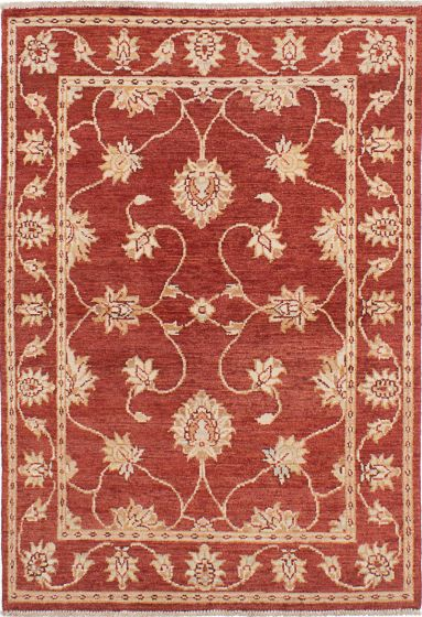 Traditional Red Area rug 3x5 Indian Hand-knotted 223922
