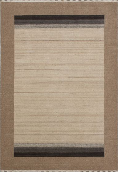 Contemporary  Solid Ivory Area rug 3x5 Indian Hand-knotted 279672