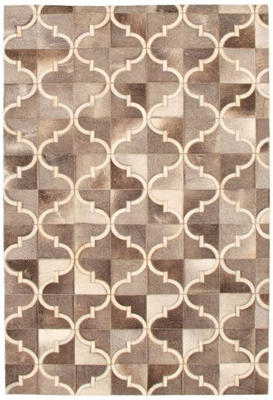 Accent  Transitional Grey Area rug 3x5 Argentina Handmade 340300
