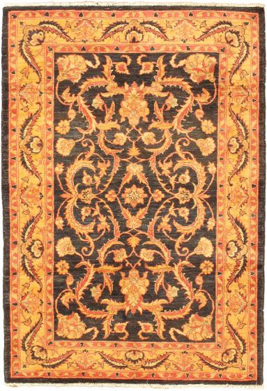 Traditional Orange Area rug 3x5 Afghan Hand-knotted 43606