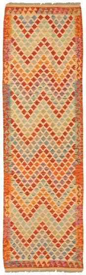 Flat-weaves & Kilims  Tribal Multi Runner rug 10-ft-runner Turkish Flat-weave 337826