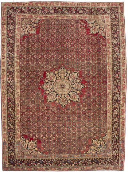 Traditional Red Area rug 8x10 Persian Hand-knotted 206200