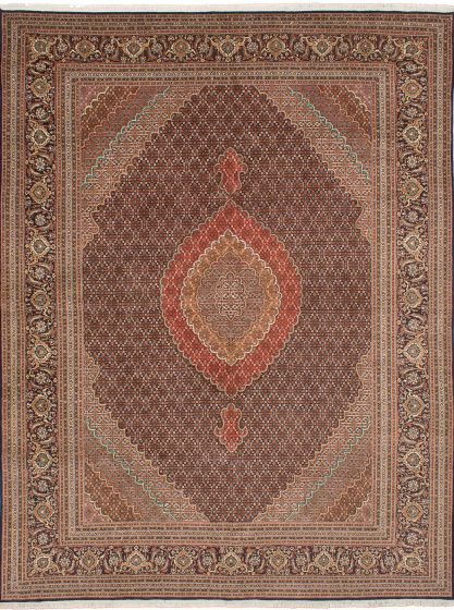 Traditional Blue Area rug 9x12 Persian Hand-knotted 206613