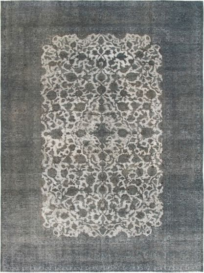 Bordered  Transitional Grey Area rug 9x12 Turkish Hand-knotted 293070