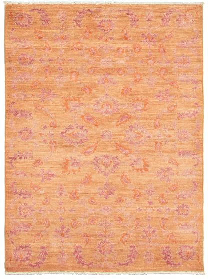 Floral  Transitional Brown Area rug 3x5 Pakistani Hand-knotted 338997