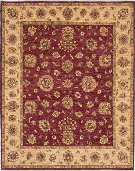 Traditional Red Area rug 6x9 Indian Hand-knotted 224112