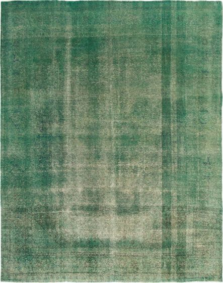 Overdyed  Transitional Green Area rug 9x12 Turkish Hand-knotted 293055