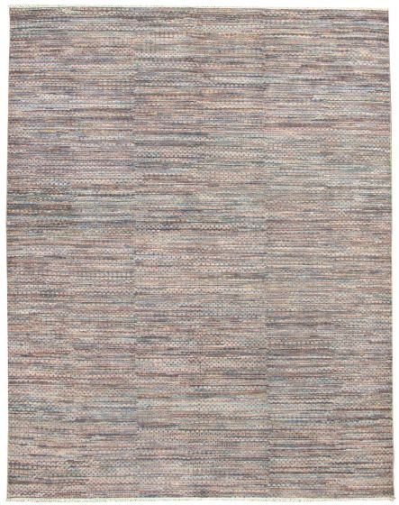 Casual  Transitional Grey Area rug 9x12 Indian Hand-knotted 331884