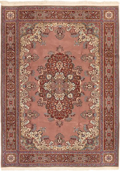 Bordered  Traditional  Area rug 6x9 Turkish Hand-knotted 293259