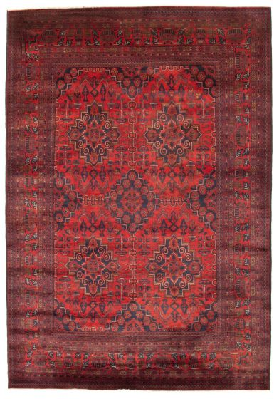 Traditional  Tribal Red Area rug 6x9 Afghan Hand-knotted 312021