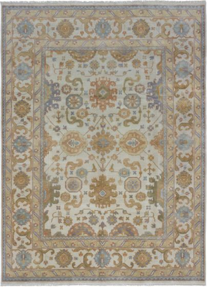 Traditional Blue Area rug 9x12 Indian Hand-knotted 189914