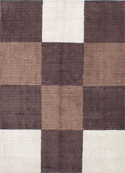 Transitional Brown Area rug 5x8 Nepal Hand-knotted 227904