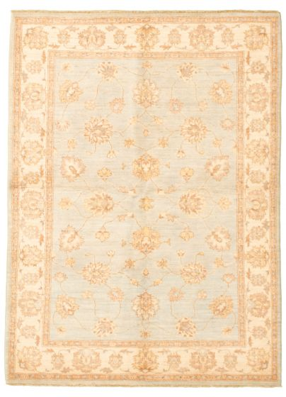 Bordered  Traditional Blue Area rug 4x6 Pakistani Hand-knotted 331485