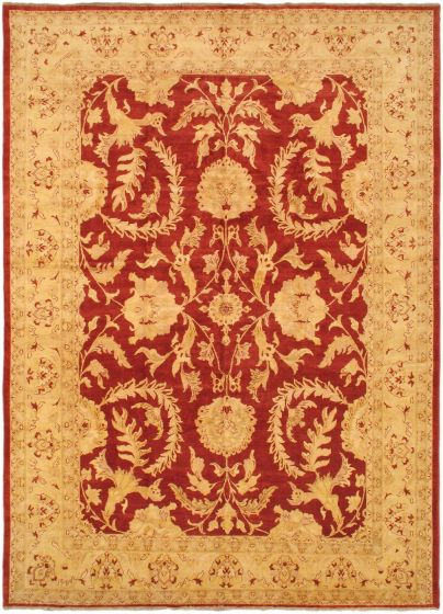 Traditional Ivory Area rug Unique Afghan Hand-knotted 38635