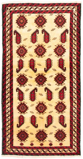 Bordered  Tribal Yellow Area rug 4x6 Afghan Hand-knotted 334889