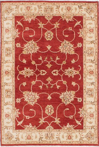 Traditional Red Area rug 3x5 Indian Hand-knotted 223923