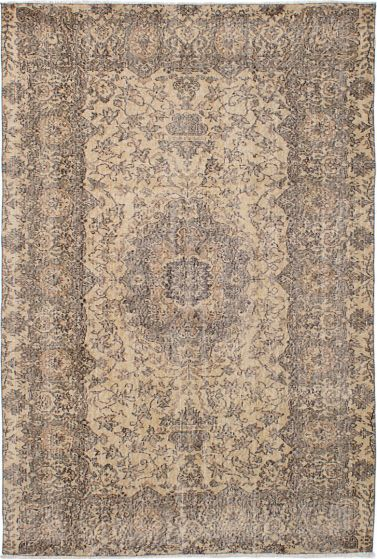 Traditional Ivory Area rug 5x8 Turkish Hand-knotted 231485