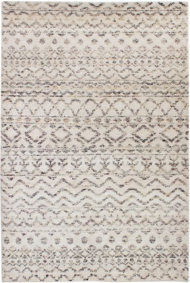 Casual  Moroccan Ivory Area rug 3x5 Indian Hand-knotted 271794