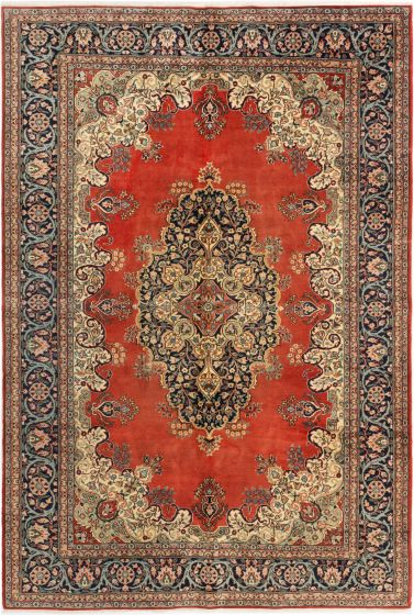 Bordered  Traditional Brown Area rug 8x10 Turkish Hand-knotted 281016