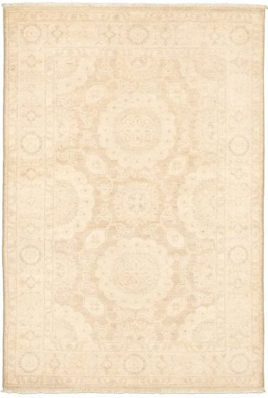 Bordered  Traditional Green Area rug 3x5 Pakistani Hand-knotted 338989
