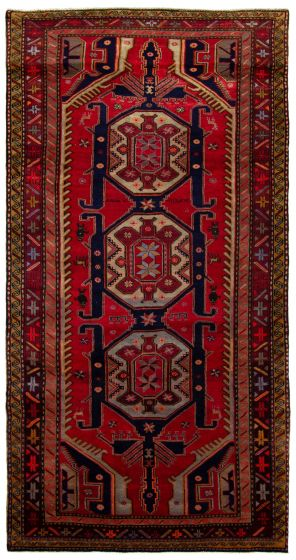 Traditional Red Area rug 5x8 Persian Hand-knotted 230956