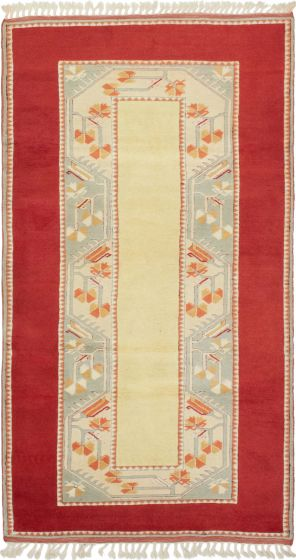 Bordered  Traditional Red