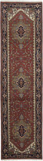 Traditional Orange Runner rug 10-ft-runner Indian Hand-knotted 207381