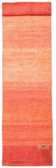 Casual  Transitional Red Runner rug 11-ft-runner Pakistani Hand-knotted 331624