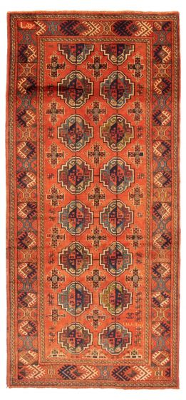 Bordered  Tribal Brown Area rug Unique Persian Hand-knotted 358568