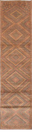 Gabbeh  Tribal Ivory Runner rug 16-ft-runner Persian Hand-knotted 217081