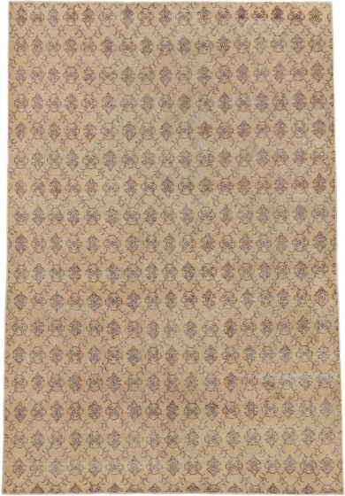 Transitional Ivory Area rug 5x8 Turkish Hand-knotted 163092