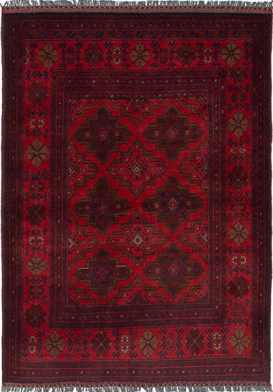 Traditional  Tribal Red Area rug 3x5 Afghan Hand-knotted 236373