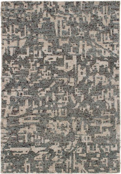 Casual  Contemporary Grey Area rug 3x5 Indian Hand-knotted 271824
