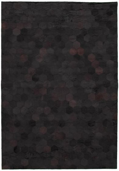Accent  Transitional Black Area rug 4x6 Argentina Handmade 340303