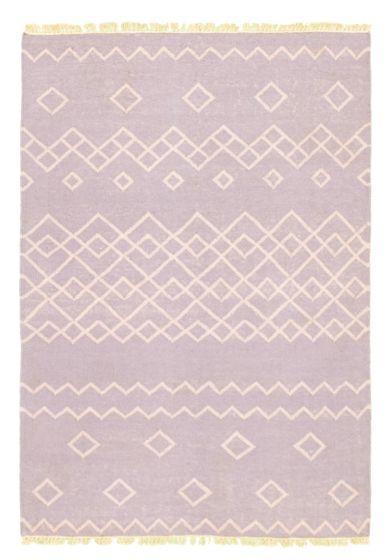 Flat-weaves & Kilims  Transitional Blue Area rug 3x5 Turkish Flat-weave 344470