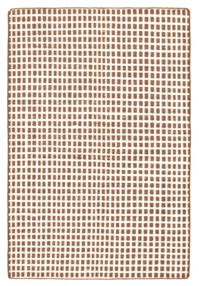 Flat-weaves & Kilims  Transitional Brown Area rug 4x6 Indian Flat-weave 344489