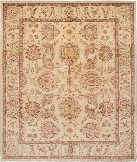 Traditional Ivory Area rug 6x9 Afghan Hand-knotted 228045